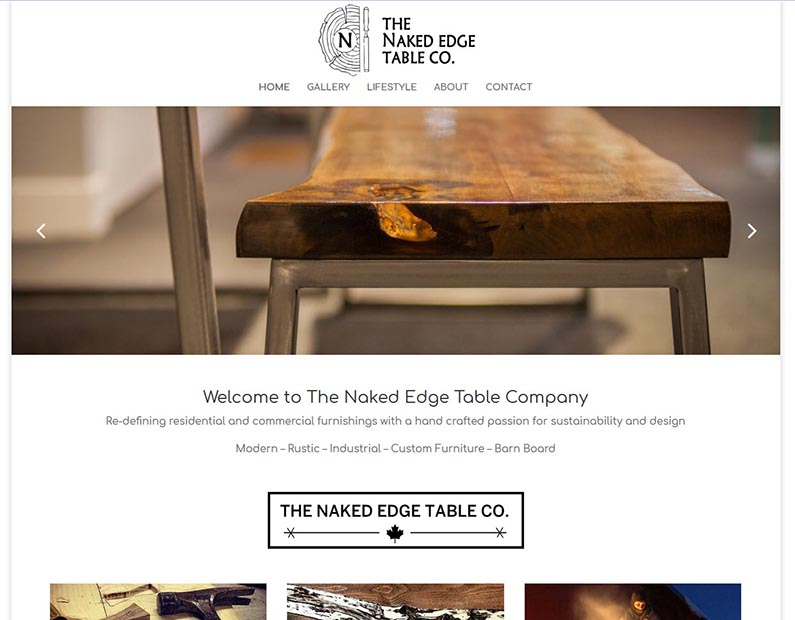 Naked Edge Table co